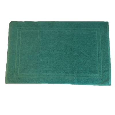 Tappeto bagno Eponge in cotone verde 80 x 50 cm