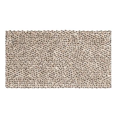 Tappeto bagno Speed in cotone beige 55 x 100 cm