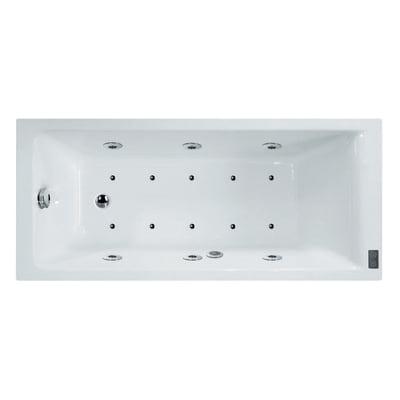 Vasca idromassaggio rettangolare Galaxy DS Confort,bianco ,170, 70 cm, 16 bocchette, SENSEA