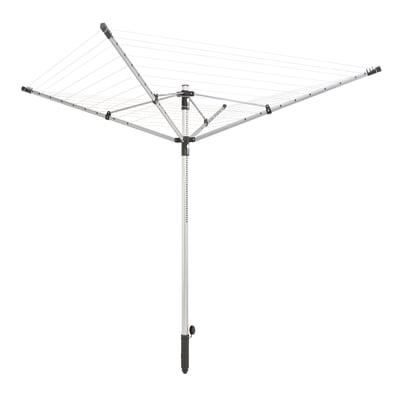 Stendibiancheria da esterno ad ombrello LEIFHEIT LinoPush 500 in alluminio L 255 cm grigio / argento