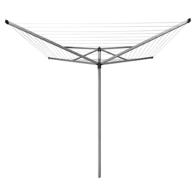 Stendibiancheria da esterno ad ombrello in alluminio L 189 cm grigio / argento