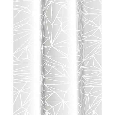 Tenda doccia Prisma in vinile bianco L 180 x H 200 cm