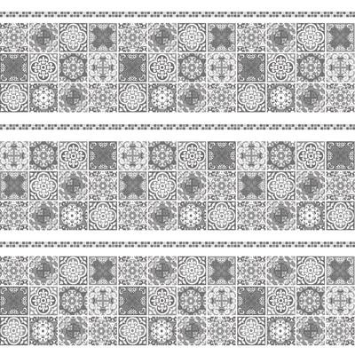 Tenda doccia Cementine in vinile grigio L 180 x H 200 cm