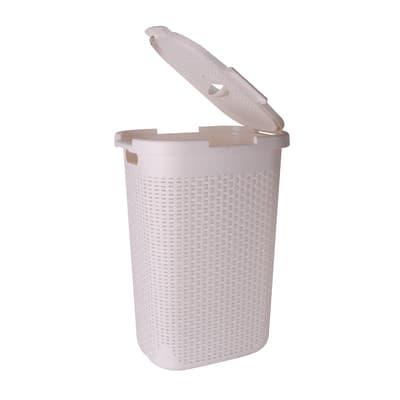 Portabiancheria Sensea Cottage bianco tra 50 e 60 L