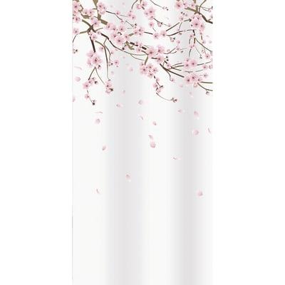 Tenda doccia Ramo in poliestere rosa L 180 x H 200 cm