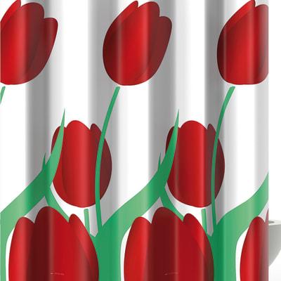 Tenda doccia Tulipano in poliestere verde L 180 x H 200 cm