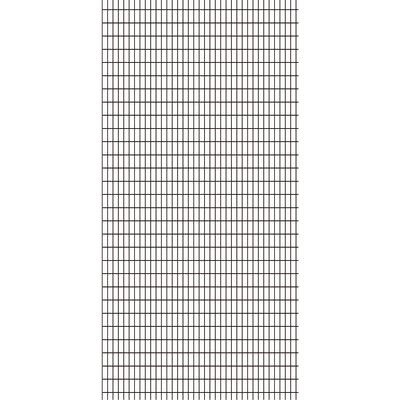 Tenda doccia Grid in poliestere bianco/nero L 180 x H 200 cm