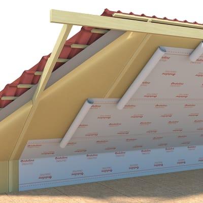 Foglio impermeabile Ondutiss barrier reflex 150 150 g/m³ 1.5 x 50 m trasparente