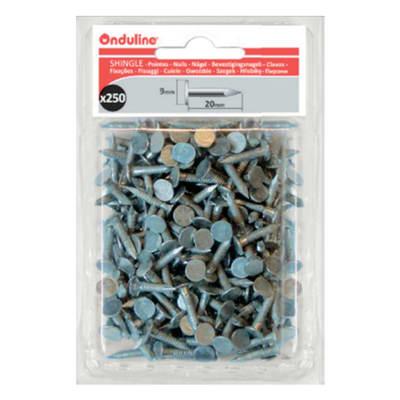 Chiodo ONDULINE in acciaio H 6 cm Ø 0.3 cm grigio , 250 pezzi