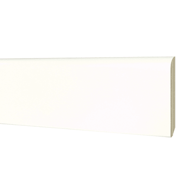 Battiscopa H 8 cm x L 2.4 m bianco