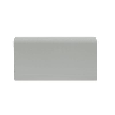 Battiscopa Passacavo Plus H 8 cm x L 2 m grigio