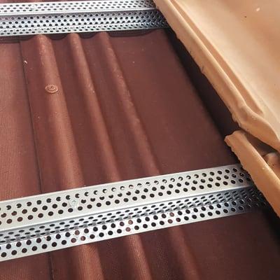Morsetto ONDULINE in acciaio H 200 cm grigio