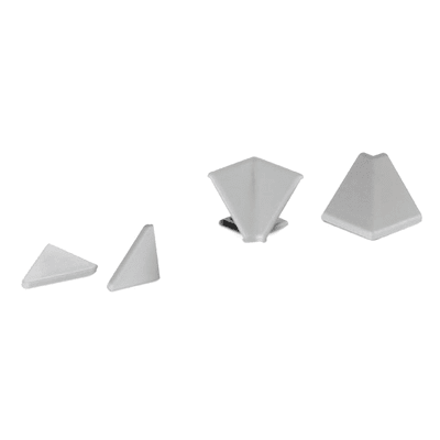 Terminale per alzatina pvc grigio L 3 x Sp 3 cm