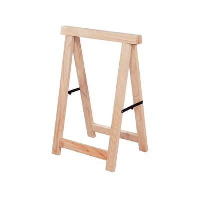 Cavalletto in pino Professionale L 53 x P 53 x H 75 cm legno naturale