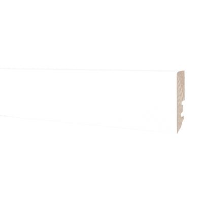 Battiscopa h 6 cm x l 2 5 m bianco prezzi e offerte online for Battiscopa bianco leroy merlin