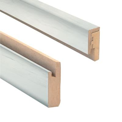 Profilo Kit Profili Mdf in mdf bianco L 2.18 m x H 40 x Sp 25 mm