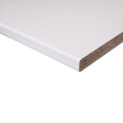 Piano di lavoro in legno bianco L 208 x P 60 cm, spessore 2.8 cm