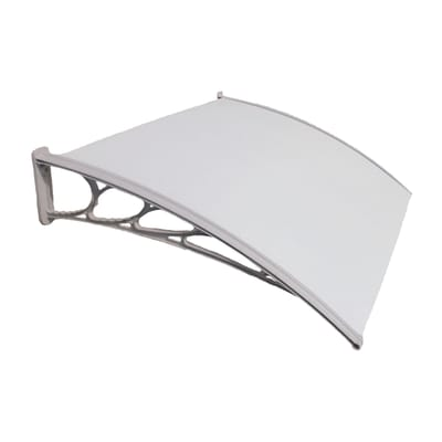 Pensilina in policarbonato L 130 x P 100 cm struttura PVC