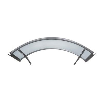 Pensilina Arco in policarbonato grigio L 140 x P 90 cm struttura Alluminio