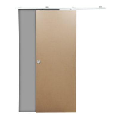 Porta scorrevole con binario esterno Practical filomuro in mdf grezzo Kit Tango L 70 x H 210 cm