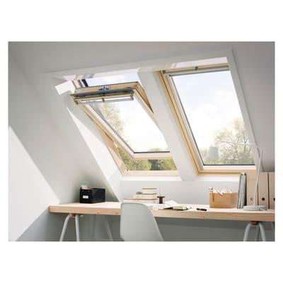 Finestra da tetto velux ggl ck04 manuale l 55 x h 98 cm for Velux tetto in legno