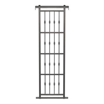 Grata blindata Basic 80 x 220 cm grigio / argento