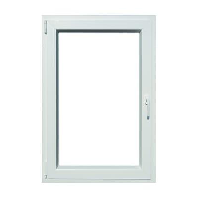 Finestra in pvc bianco L 80 x H 120 cm, 1 anta oscillo-battente apertura sinistra