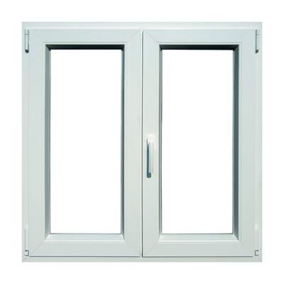 Finestra in pvc bianco L 120 x H 120 cm, 2 ante oscillo-battente apertura destra
