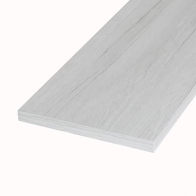 Ripiano melaminico ARTENS 100 x 40 cm Sp 18 mm , rovere bianco
