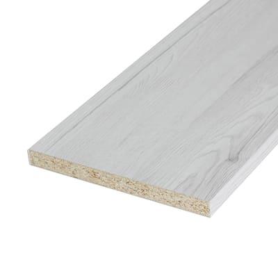 Ripiano melaminico ARTENS 182 x 40 cm Sp 18 mm , rovere bianco