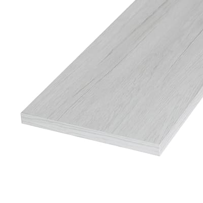 Ripiano melaminico ARTENS 120 x 60 cm Sp 18 mm , rovere bianco