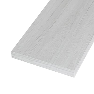 Ripiano melaminico ARTENS 100 x 60 cm Sp 25 mm , rovere bianco