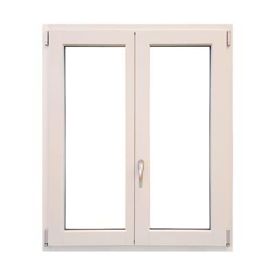 Finestra in legno bianco L 100 x H 120 cm