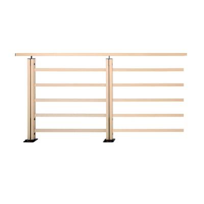 Balaustra in legno L 200 x H 101 cm noce