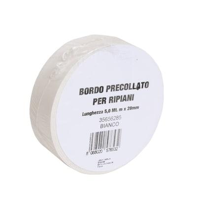 Bordo preincollato bianco 500 x 2.8 cm