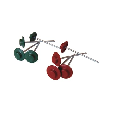 Chiodo ONDULINE in acciaio H 6 cm Ø 0.3 cm verde , 50 pezzi