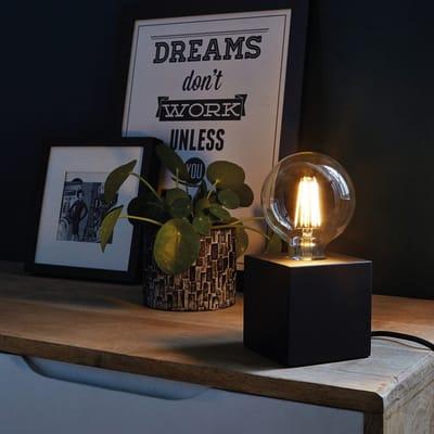 Lampada da comodino Design Atena nero , in metallo