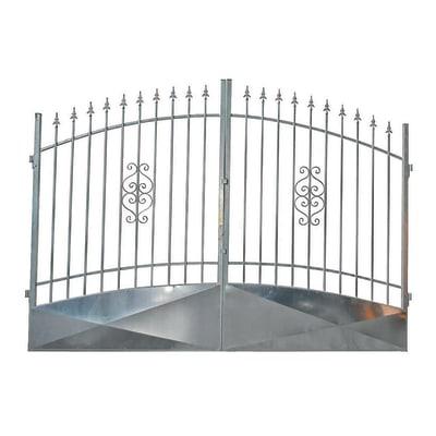 Cancello Etna in ferro zincato L 300 x H 170 - 195 cm