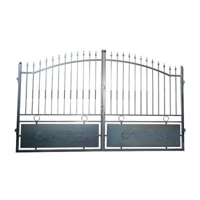 Cancello Krakatoa in ferro zincato L 400 x H 170 - 195 cm