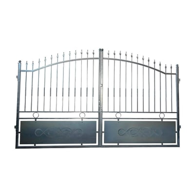 Cancello Krakatoa in ferro zincato L 300 x H 170 - 195 cm