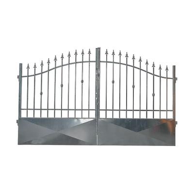 Cancello Stromboli in ferro zincato L 400 x H 150 - 180 cm