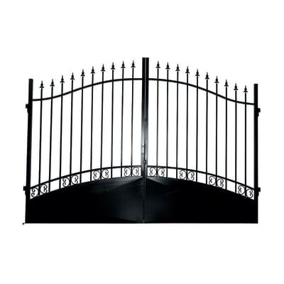 Cancello Vesuvio in ferro verniciato L 300 x H 180 - 210 cm