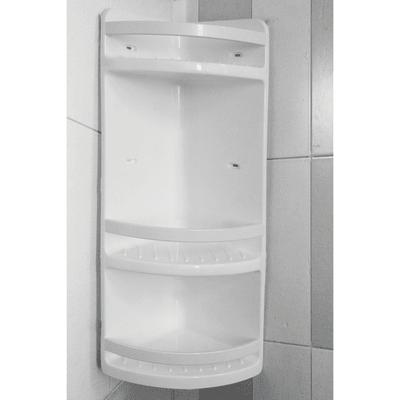 Mensola doccia 3 ripiani bianco