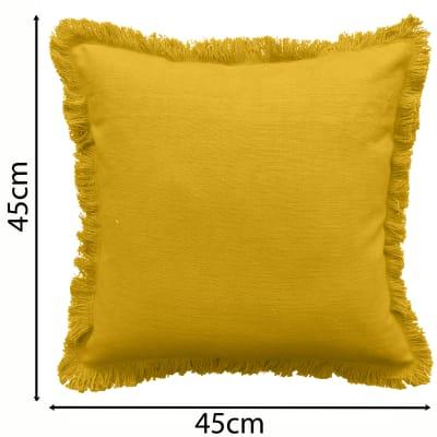Cuscino INSPIRE Lucile giallo senape 45x45 cm