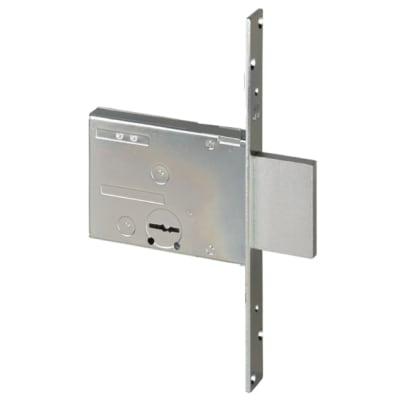 Serratura a incasso doppia mappa per cancello o rete, entrata 7 cm, interasse 82 mm