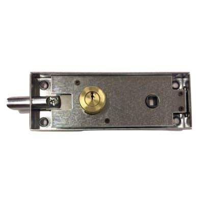 Serratura a incasso cilindro per cancello o rete, entrata 0 cm, interasse 62 mm