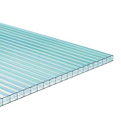 Lastra Lastra alveolare Onduclair PCMW in policarbonato H 98 x L 200 cm, Sp 6 mm