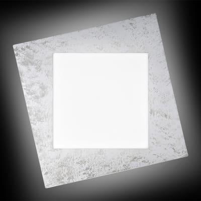Plafoniera moderno Selly LED integrato grafite, in ferro, 53x53 cm,
