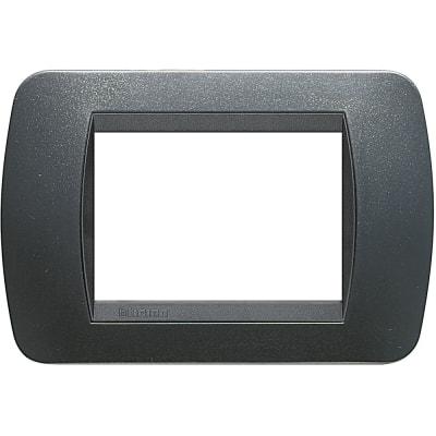 Placca BTICINO Living International 3 moduli acciaio scuro