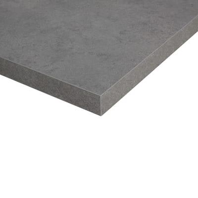 Piano cucina in laminato grigio L 304 x P 63 cm, spessore ...